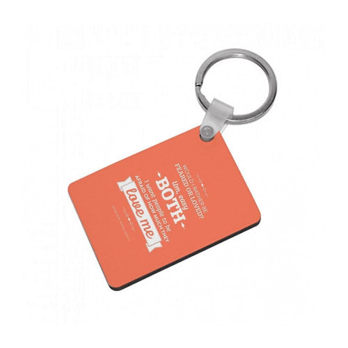 Dunder Mifflin The Office - Michael Scott Feared or Loved Keyring - Fun Cases
