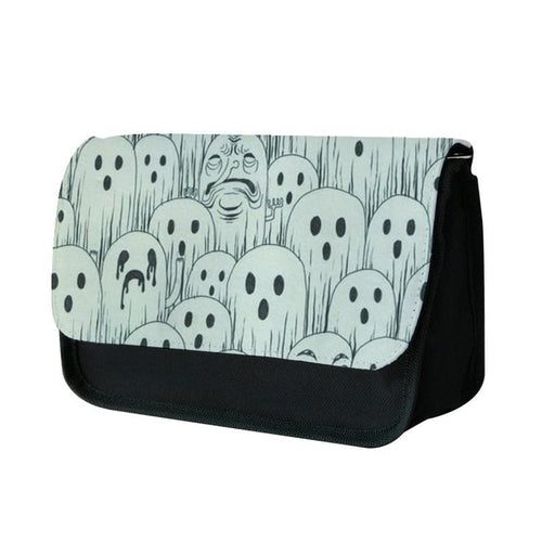 Droopy Ghost Pattern Pencil Case