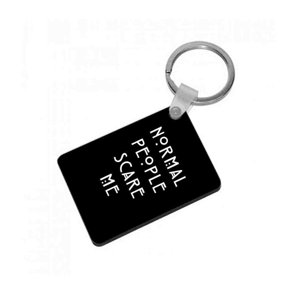 Normal People Scare Me - Black American Horror Story Keyring - Fun Cases
