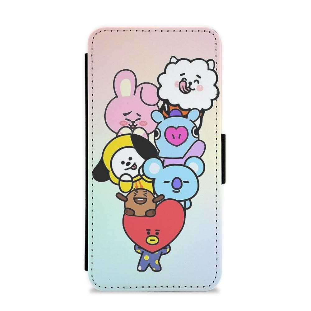 low priced 70b79 9f000 Pastel BT21 - BTS Flip Wallet Phone Case