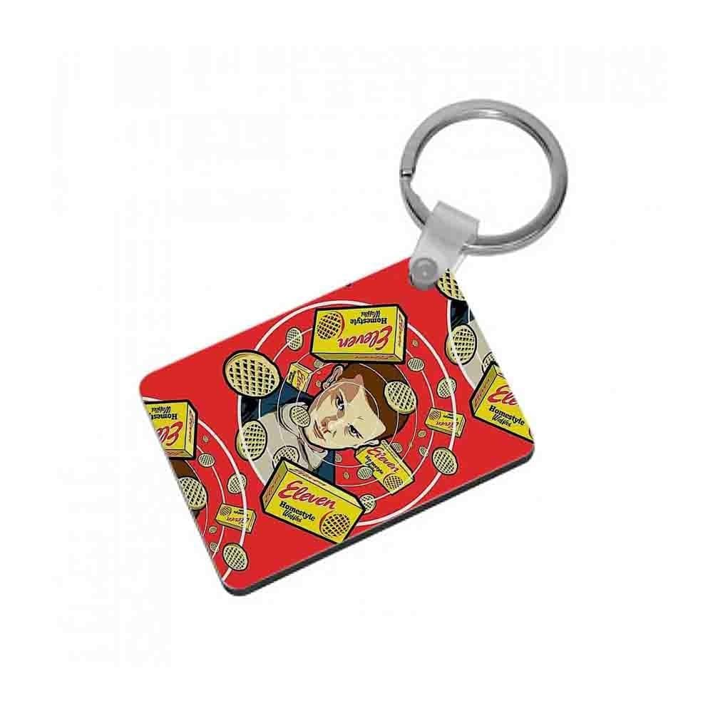Eleven and Waffles - Stranger Things Keyring - Fun Cases