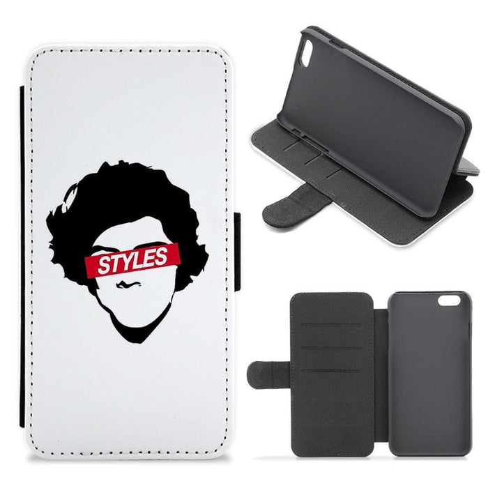 Red Styles Eyes - Harry Styles Flip / Wallet Phone Case - Fun Cases