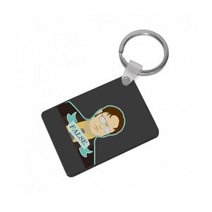 False. Dwight Schrute Keyring - Fun Cases