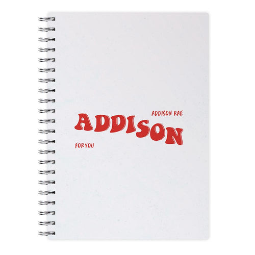 Addison Rae For You Notebook
