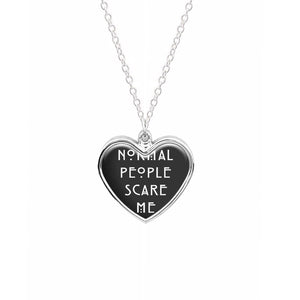 Normal People Scare Me - Black American Horror Story Necklace