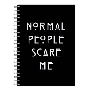 Normal People Scare Me - Black American Horror Story Notebook - Fun Cases