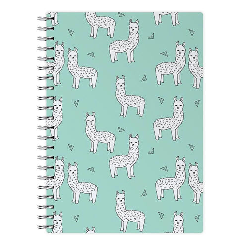 Mint Alpaca Pattern Notebook - Fun Cases