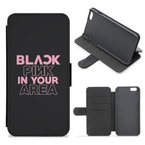 Blackpink In Your Area - Black Flip / Wallet Phone Case