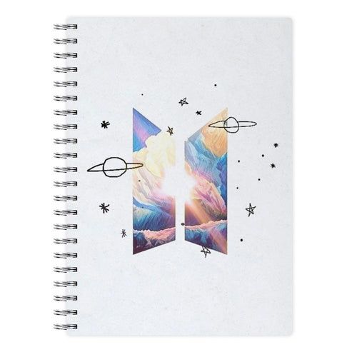 Space BTS Logo Notebook - Fun Cases