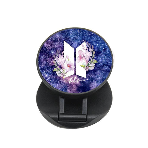 Galaxy Floral BTS Logo FunGrip - Fun Cases