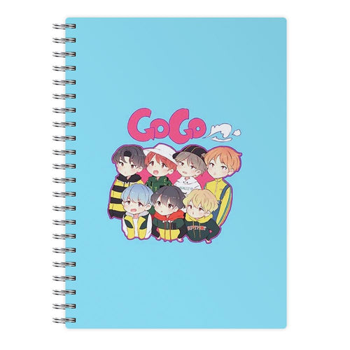 Go Go BTS Cartoon Notebook - Fun Cases