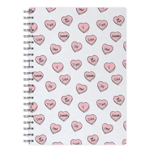 BTS Hearts Notebook - Fun Cases