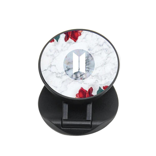 BTS Logo Marble Roses FunGrip - Fun Cases