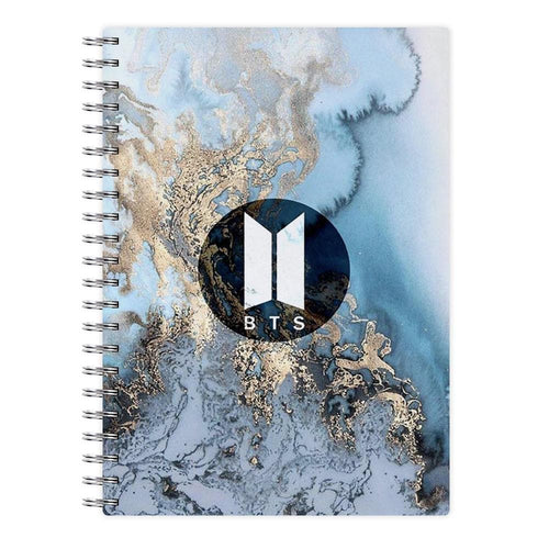 BTS Logo Marble Notebook - Fun Cases