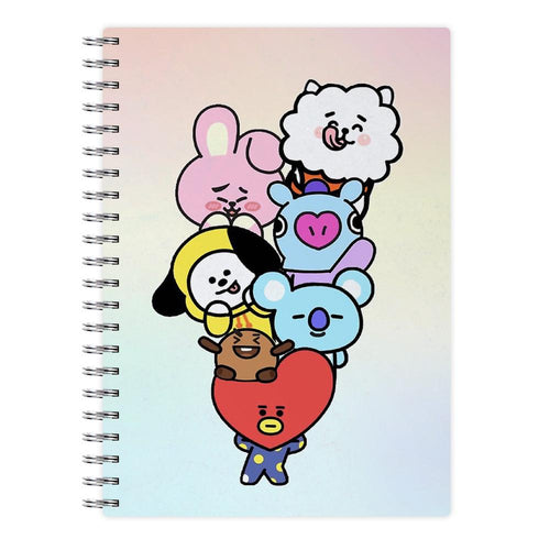 Pastel BT21 - BTS Notebook