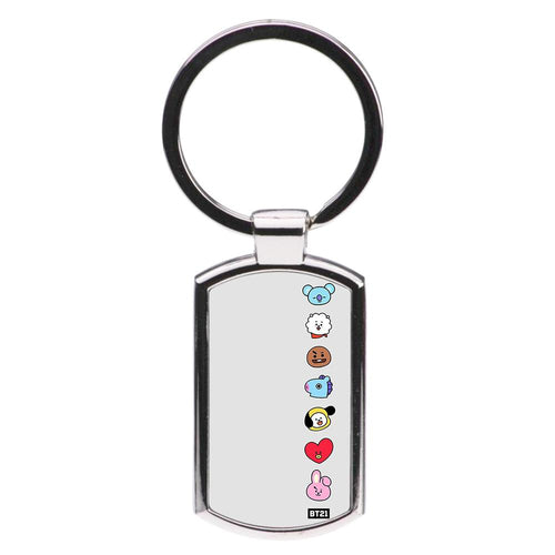 BT21 Vertical Faces - BTS Luxury Keyring