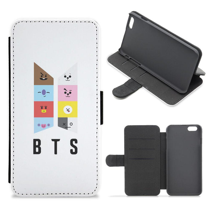 BT21 BTS Logo Flip / Wallet Phone Case