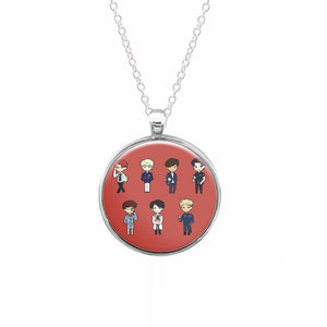 BTS Cartoons Necklace