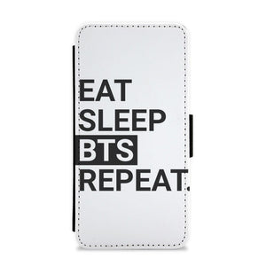 Eat, Sleep, BTS, Repeat Flip / Wallet Phone Case