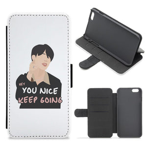 You Nice Keep Going - BTS Flip / Wallet Phone Case