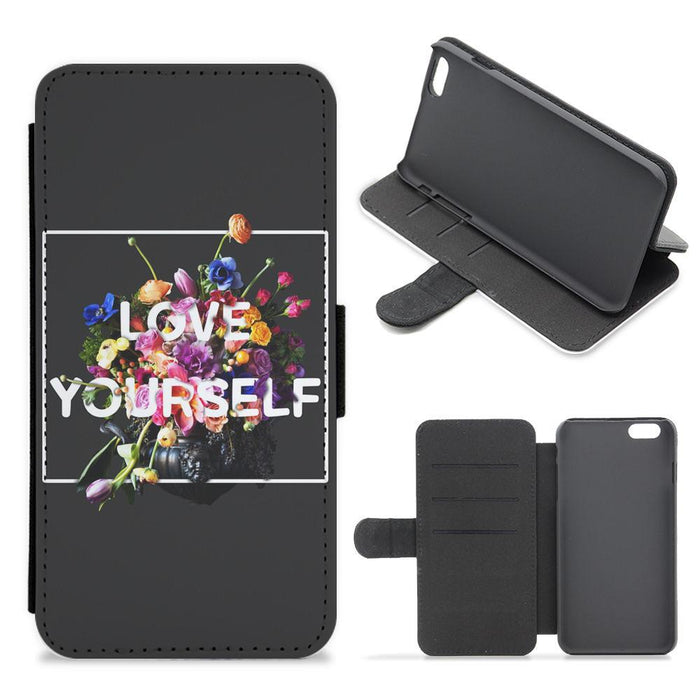 Floral Love Yourself - BTS Flip / Wallet Phone Case