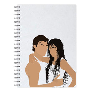 White Dallas 94 - Cameron Dallas Notebook - Fun Cases