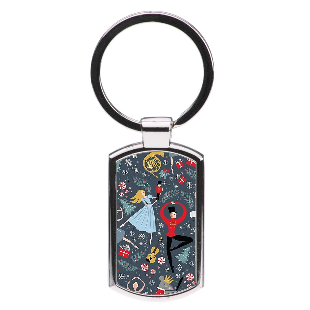 Nutcracker Ballet Pattern - Christmas Luxury Keyring
