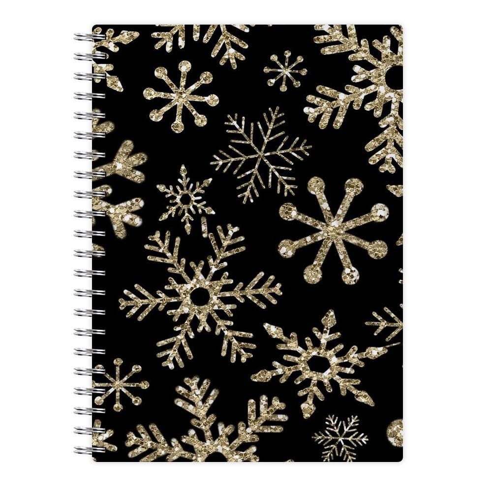 Gold Snowflake Pattern Notebook
