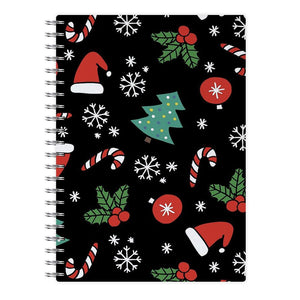 Christmas Objects Pattern Notebook