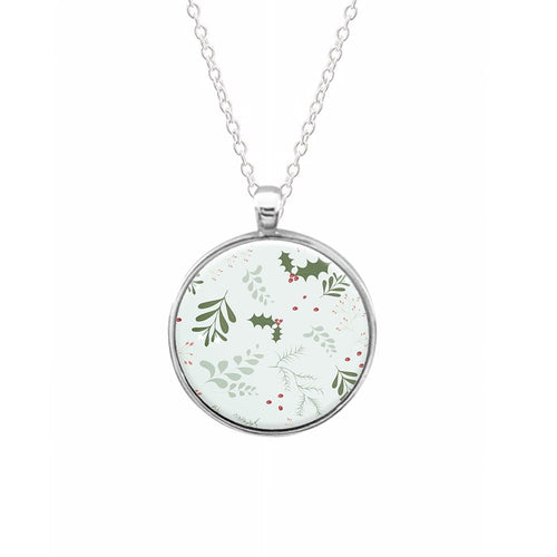 Christmas Floral Pattern Necklace