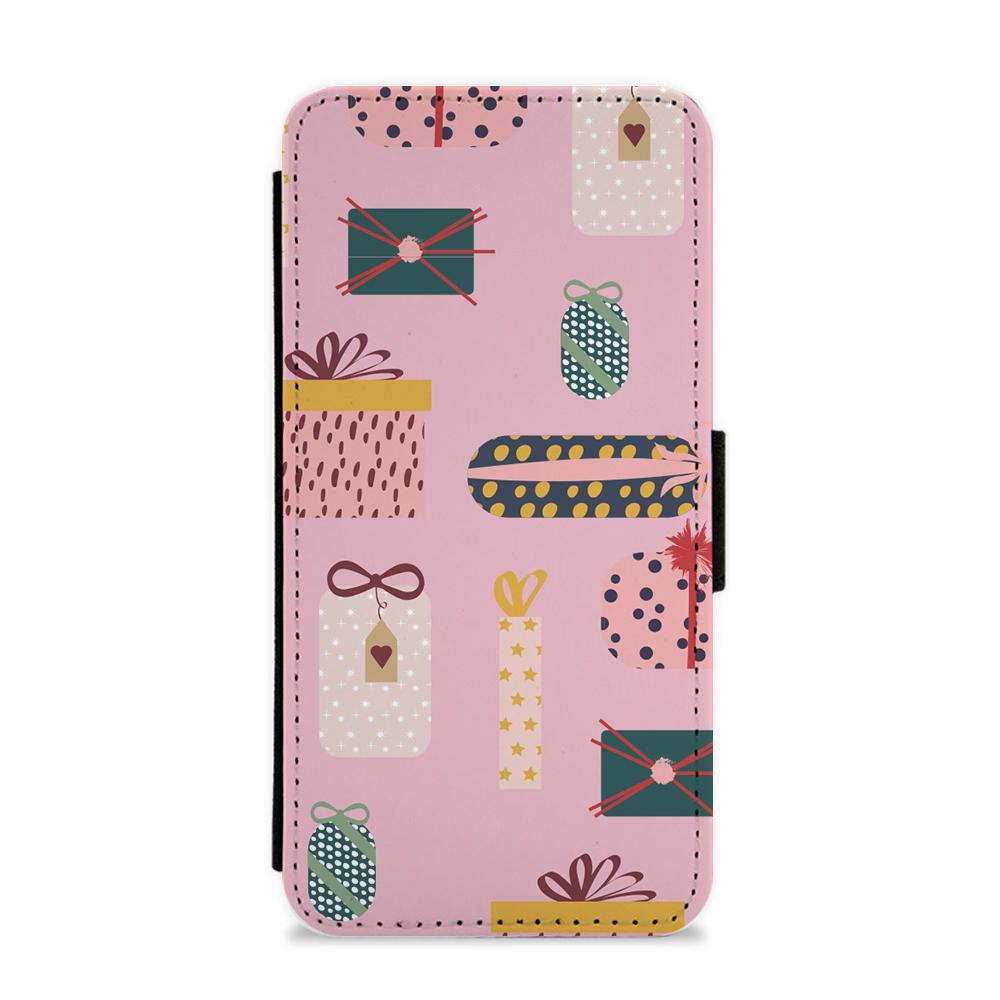 Christmas Gifts Pattern Flip / Wallet Phone Case
