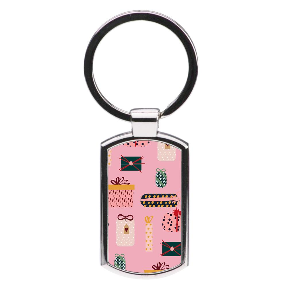 Christmas Gifts Pattern Luxury Keyring