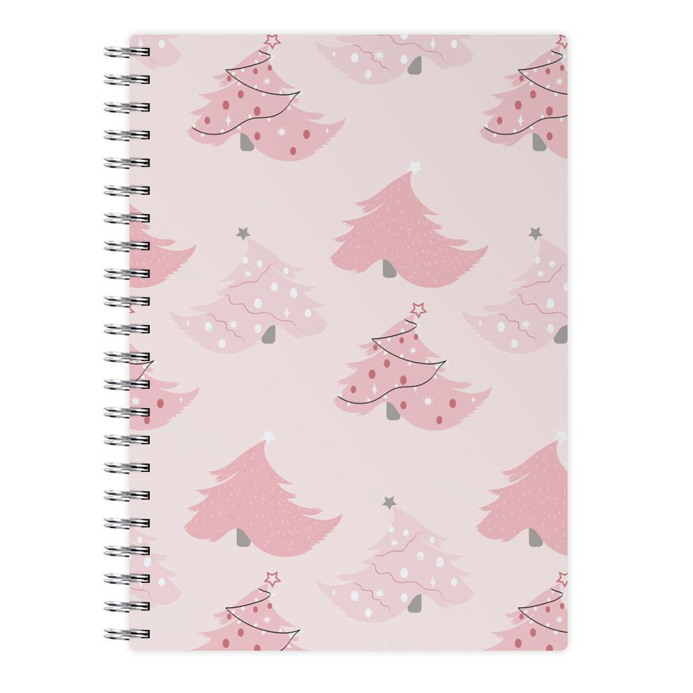 Pink Christmas Tree Pattern Notebook