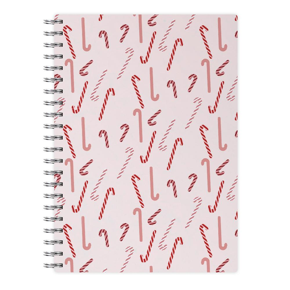 Pink Candycane Christmas Pattern Notebook