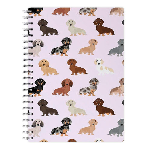 Dachshund Breed Pattern Notebook - Fun Cases
