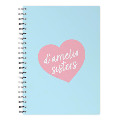 D'Amelio Sisters Heart Notebook