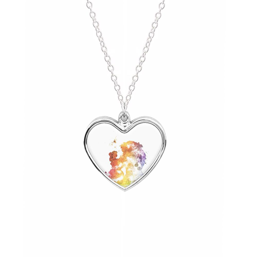Watercolour Beauty and the Beast Disney Necklace