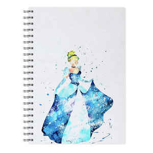 Watercolour Cinderella Disney Notebook - Fun Cases
