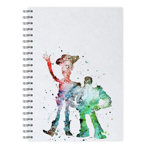Watercolour Woody & Buzz Toy Story Disney Notebook - Fun Cases