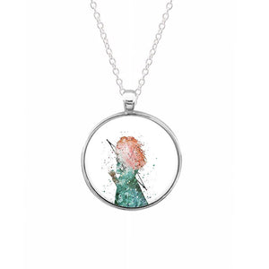 Watercolour Princess Merida Brave Disney Keyring - Fun Cases