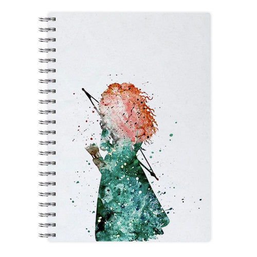 Watercolour Princess Merida Brave Disney Notebook - Fun Cases