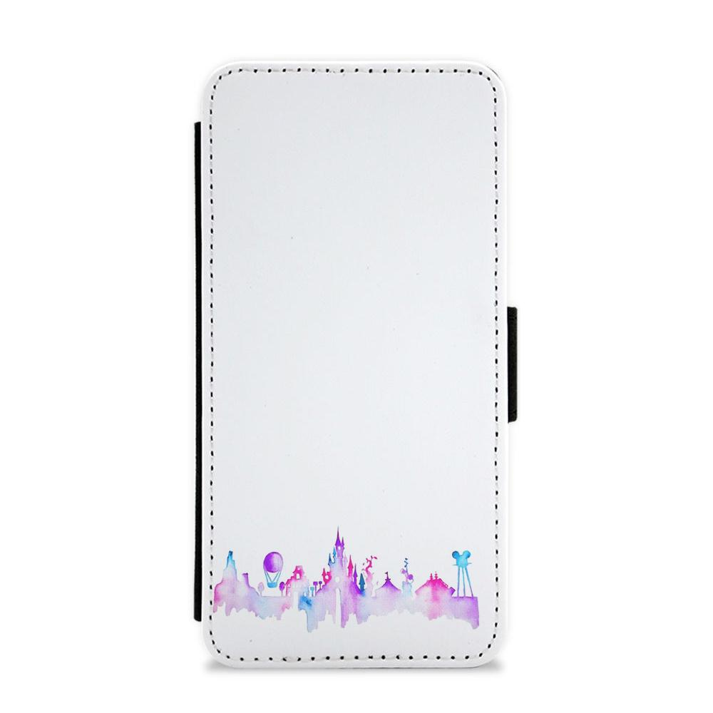 Watercolour Disneyland Paris Flip / Wallet Phone Case