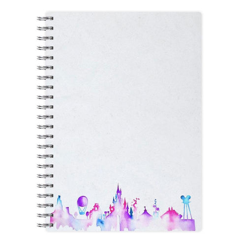 Watercolour Disneyland Paris Notebook - Fun Cases