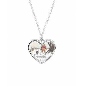 Sometimes The Smallest Things - Winnie The Pooh Necklace
