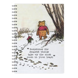 Disney Notebook - Sometimes The Smallest Things - Winnie The Pooh Notebook