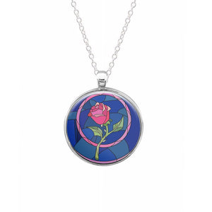 Glass Rose - Beauty and the Beast Keyring - Fun Cases