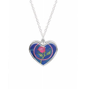 Glass Rose - Beauty and the Beast Necklace