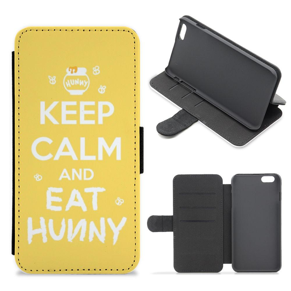 Keep Calm And Eat Honey - Winnie The Pooh Flip / Wallet Phone Case