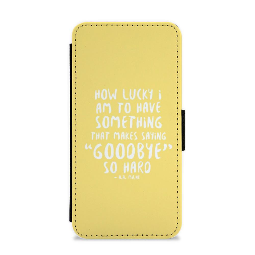 How Lucky I Am - Winnie The Pooh Flip / Wallet Phone Case