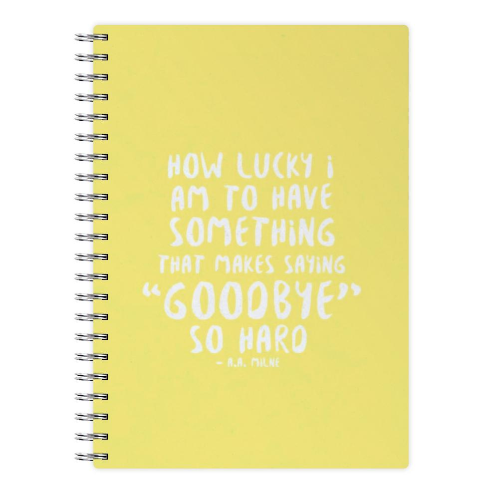 How Lucky I Am - Winnie The Pooh Notebook
